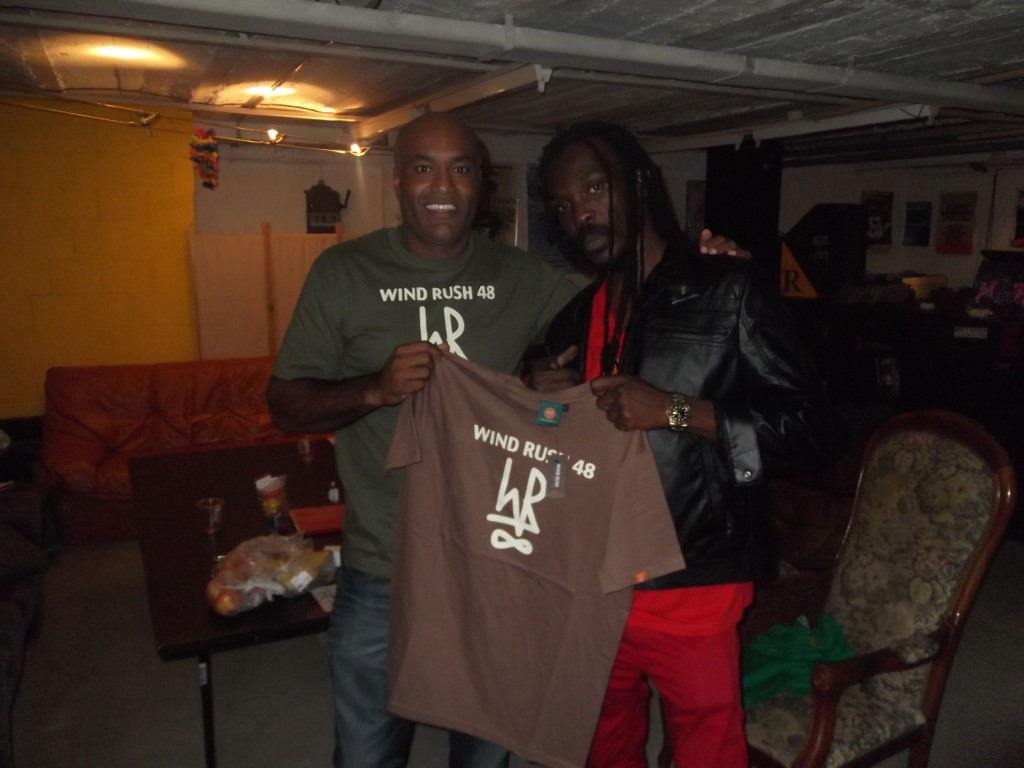 Anthony B with Simply WR48 Icon T-shirt